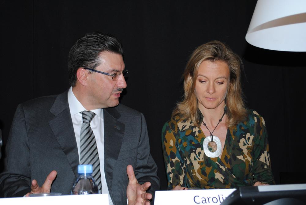 Juan-Carlos Torres et Caroline Barbier-Mueller
