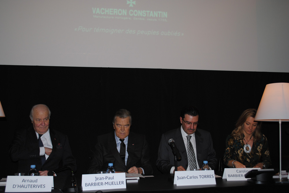 Arnaud d'Hauterives, Jean Paul Barbier-Mueller, Juan-Carlos Torres, Caroline Barbier-Mueller