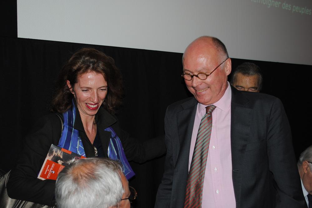 Marie-Christine Labourdette et Stéphane Martin