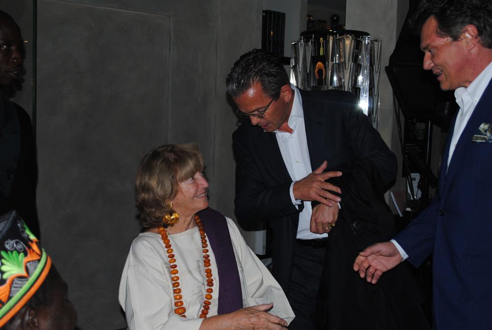 Monique Barbier-Mueller, Stéphane Barbier-Mueller et  François Paul Journe. Photo Luis Lourenço.