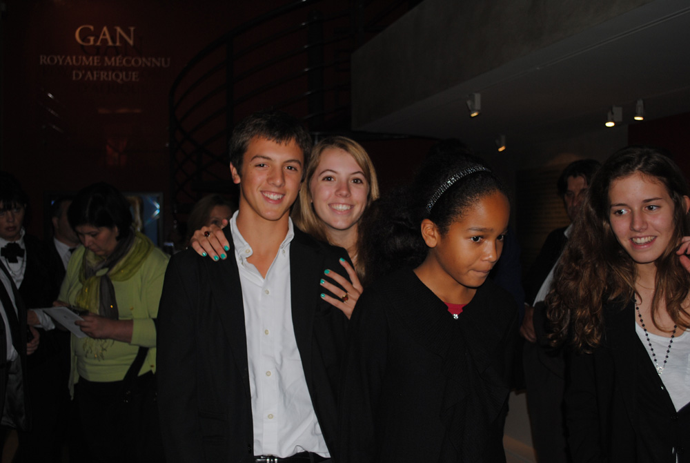 Henri, Diane, Sophie et Zoé Barbier-Mueller. Photo Luis Lourenço.