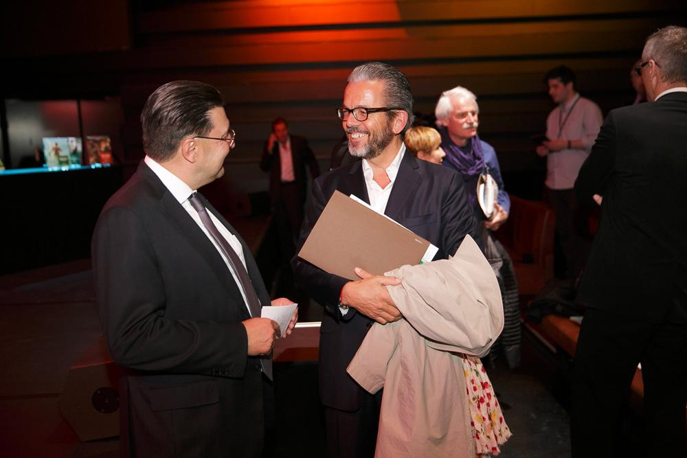 Juan-Carlos Torres et Stéphane Barbier-Mueller, respectivement président et vice-président de la Fondation culturelle Musée Barbier-Mueller.