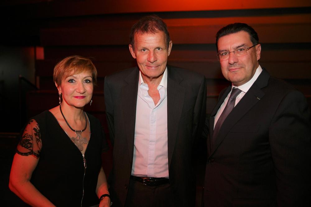 Laurence Mattet, directrice de la Fondation culturelle Musée Barbier-Mueller, Patrick Poivre D'Arvor et Juan-Carlos Torres.