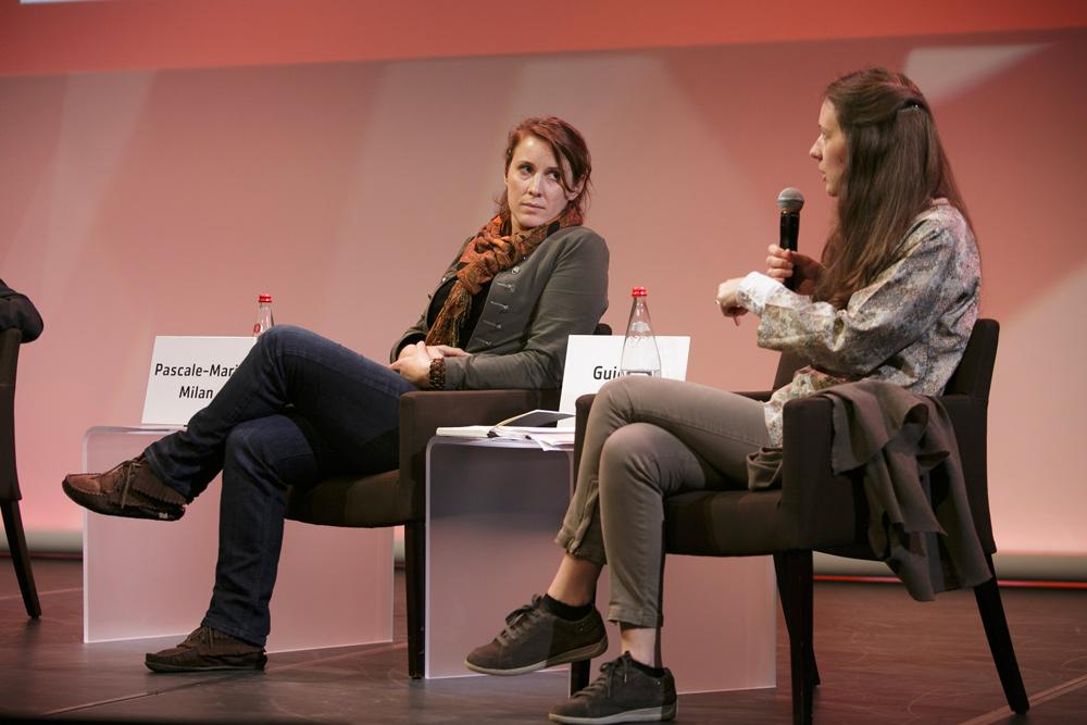 Pascale-Marie Milan et Guigone Camus, chercheuses de la Fondation culturelle Musée Barbier-Mueller.