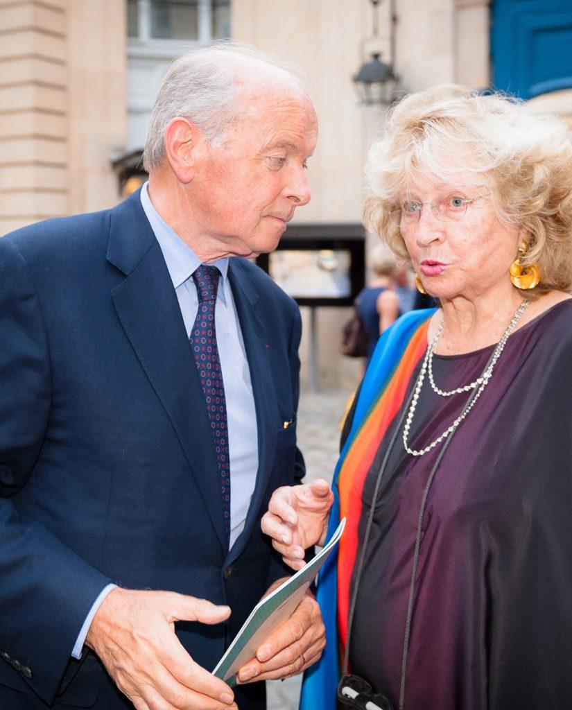 Jacques Toubon, ancien ministre français de la Culture, et Monique Barbier-Mueller. Photo Luis Lourenço.