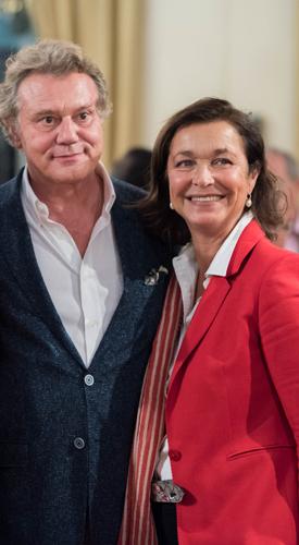 F.P. Journe, mécène de la Fondation culturelle Musée Barbier-Mueller et Brigitte Makhzani, International PR – Events Manager de la marque de haute horlogerie F.P.Journe. Photo Cyril Menut.