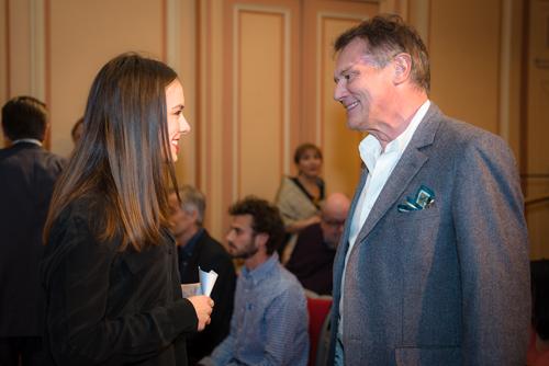 Valentine Barbier-Mueller et F.P. Journe, mécène de la Fondation culturelle Musée Barbier-Mueller. Photo Luis Lourenço.